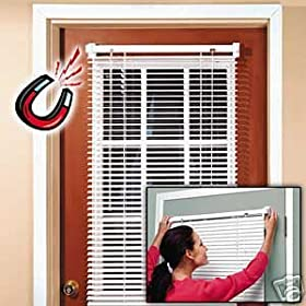 "Magnetic Mini Blind / Blinds for Metal Door 25""W X 68.5""L"