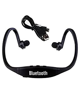 JIYANSHI stylish sports wireless bluetooth black BS19 Compatible with Idea Aurus 4