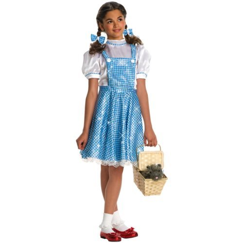 Girls Deluxe Dorothy Costume - Child Large by Rubie's (Morph Suit Sizing)