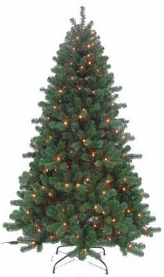 Equinox 2 PDT-113-40 Pre-Lit Artificial Christmas Tree, Piedmont Fir, 100 Clear Lights, 4-Ft.