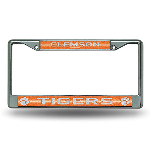 NCAA Clemson Tigers Bling Chrome Plate Frame (Clemson Truck Accessories compare prices)