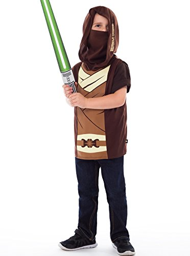 Little Adventures Galactic Star Warrior Hooded Vest Costume & Accessory Sets for Boys - S/M (3-5 (Noble Warrior Adult Costume)