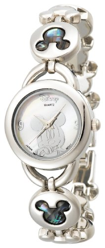 Disney Women's MK2006 Mickey Mouse Abalone Stone Links Bracelet Watch