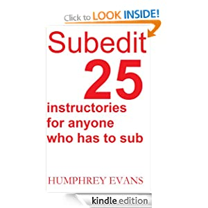 Subedit: 25 Instructories for Anyone Who has to Sub