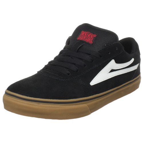 Lakai Men's Manchester Select HO3 Skate Shoe,Black/Gum Suede,13 M US