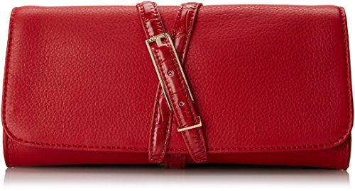 Isaac Mizrahi Trudy CL Clutch,Cayenne Red Pebble/Cayenne Red Crocodile,One Size