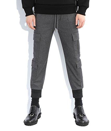 wiberlux-neil-barrett-mens-cargo-jogger-pants-48-charcoal