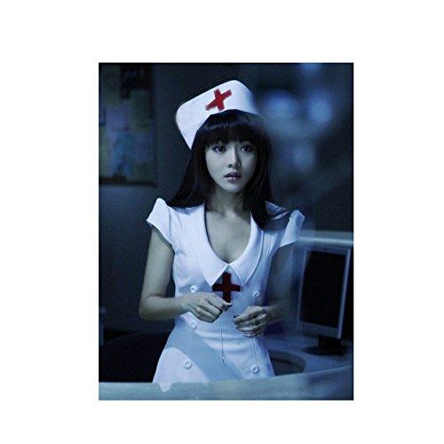 ハロウィン 衣装  看護師 セクシー コスチューム 3点セット Ruleronline (XL)