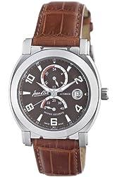 Jean D'eve Men's 847051RS.AA.N Luna Brown Dial Stainless-Steel Bracelet Watch