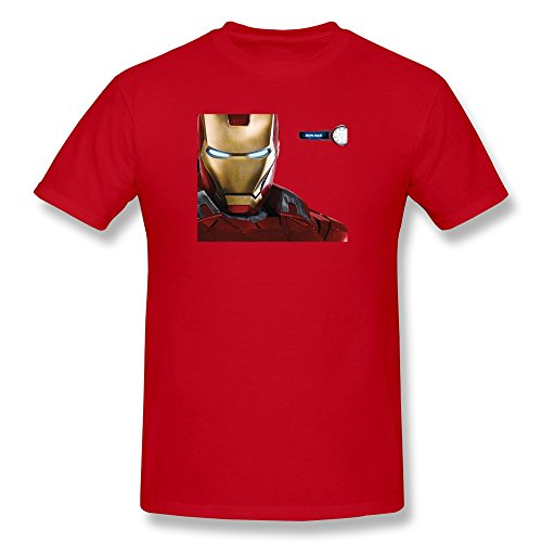 WAYNEY Men Personalized Super Hero Iron Man T-shirts 100% Cotton