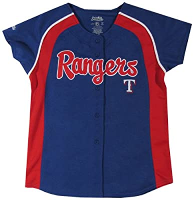 MLB Girl's Colorblocked Raglan Button Down Jersey