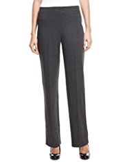 M&S Collection Herringbone Slim Leg Trousers