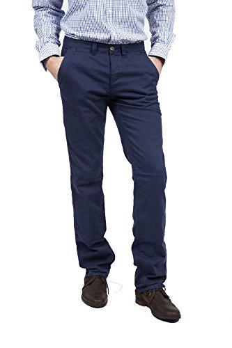 VEDONEIRE da uomo in cotone Twill pantaloni (3600) BLU navy chinos stile vintage