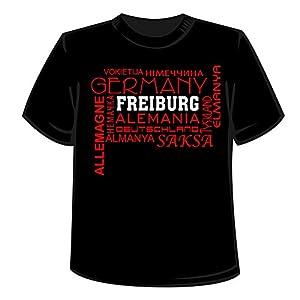 T-Shirt - Motiv Germany Freiburg - Herren Stadt Shirt Städteshirt