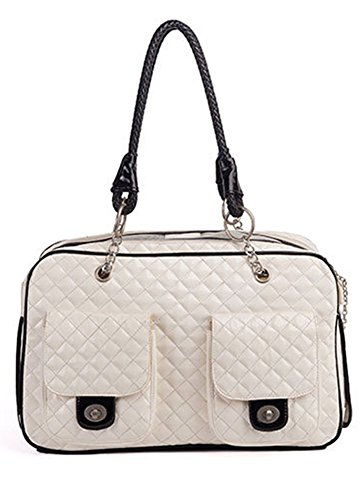 BETOP HOUSE Soft-Sided Pet Carrier Purse for Travel, White