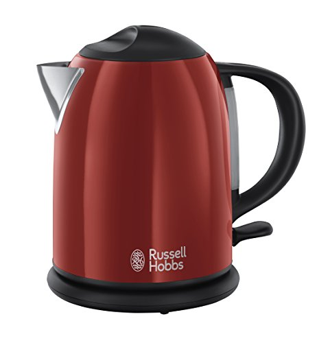 Russell Hobbs 20191-70 Colours Flame Red Bollitore Compatto, Rosso
