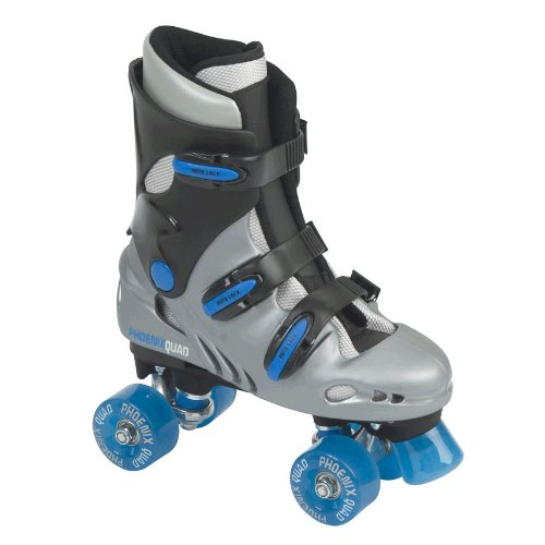 Sfr 'Pheonix' Quad Skates - Silver, Black And Blue - Size 10