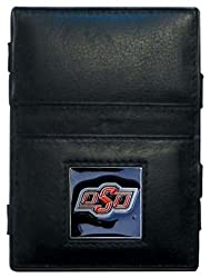 NCAA Oklahoma State Cowboys Leather Jacob's Ladder Wallet
