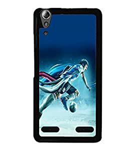 printtech Football Running Game Player Back Case Cover for Lenovo A6000