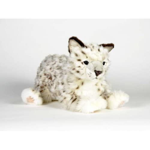 Hansa Snow Leopard Cub Stuffed Plush Animal, Laying