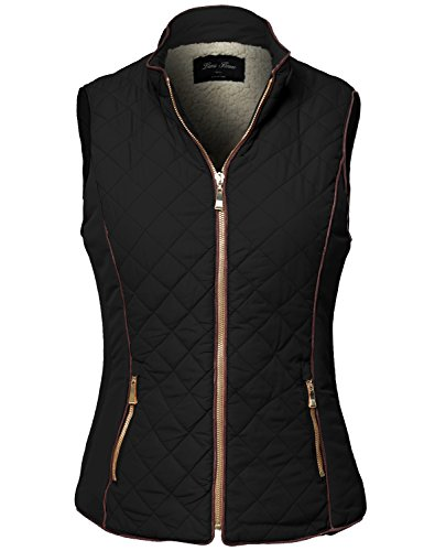 Faux Shearling Lined Quilted Padding Vest Jackets