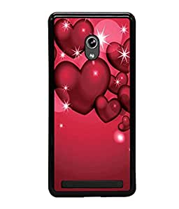 printtech Heart Star Floating Back Case Cover for Asus Zenfone 5 , Asus Zenfone 5 A500CG