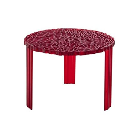 Kartell 8502RO Table basse T-Table (Rouge transparent)
