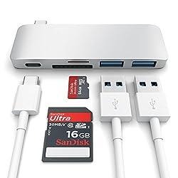 Satechi® 新12インチMacBook用 Type-C USB3.0 3in1 コンボハブ (Type-C 充電ポート付き) (シルバー)