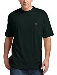 RIGGS WORKWEAR by Wrangler Men's Big & Tall Pocket T-Shirt, Forest Green, X-Large Tall