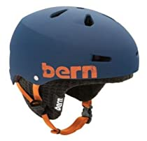 Bern Macon EPS Matte Helmet with Black Knit (Blue, Medium/Large)