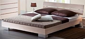 Futonbett französisches Bett Buche weiss Annelie Breite 127 cm Liegefläche 120x200 Stutz-Steg Ohne Pharao24