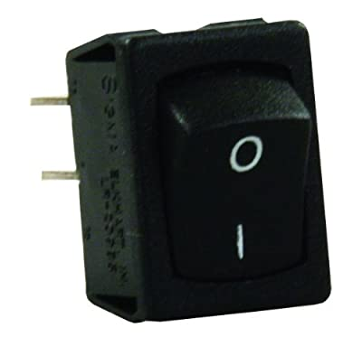 JR Products 13735 Black Mini Labeled On/Off I-O Switch
