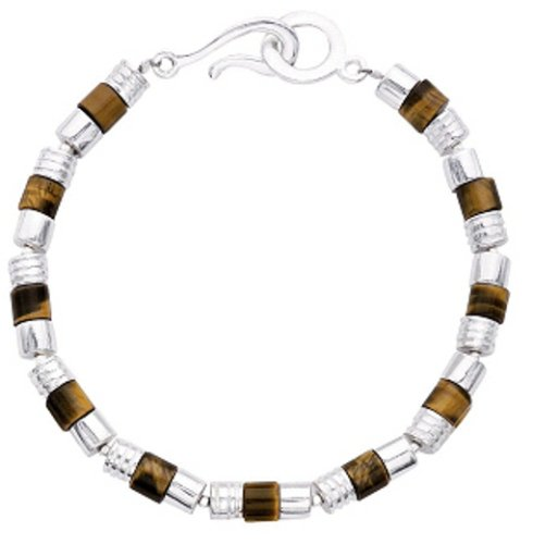 Fred Bennett Men's B2096 Tigers Eye Disc Bracelet