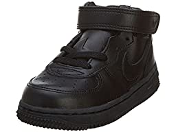 Nike Air Force 1 Mid Toddlers Size 5 (Black / Black) 307192-001
