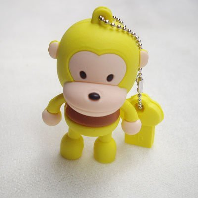 4GB Baby Monkey USB 2.0 High Speed Silicon Flash Memory Drive Disk Stick Pen Support Windows and MacOS Great Gift (4GB YELLOW) by EASYWORLD