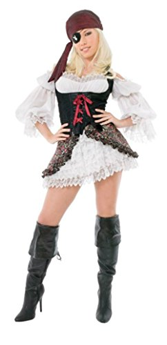 Playboy Womens Buccaneer Beauty Pirate Outfit Fancy Dress Sexy Costume