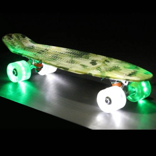 Led Light Up Plastic Skateboard Sunset Flare Camo