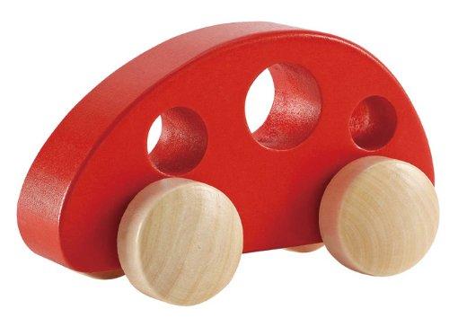 Hape - Mini Van - Solid Maple in Red