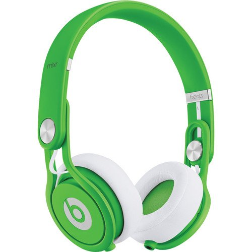 Beats by Dr. Dre Mixr Deep Bass Response Lightweight DJ Over-ear Headphones (Green)