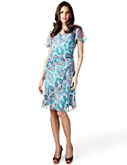 Per Una Abstract Print Side Ruched Dress