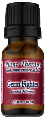 Plant Therapy Essential Oils Germ Fighter Synergy Essential Oil Blend. 10 ml. 100% Pure, Undiluted, Therapeutic Grade.