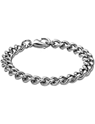 Peora Stainless Steel Luxe Link Bracelet For Men