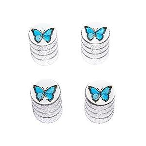 Butterfly - Tire Rim Valve Stem Caps - Aluminum