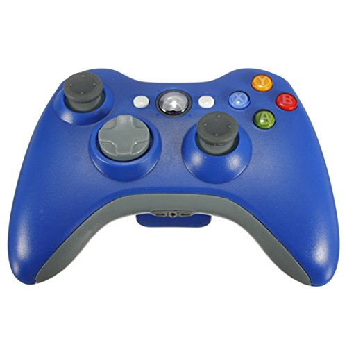 Blue Remote Wireless Dual-Shock Game Controller Joypad For Microsoft Xbox 360