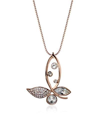 Annie Ram Collar Asymetric Butterfly Large Metal Rosado