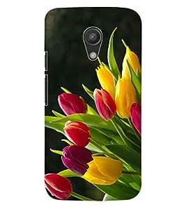 ColourCraft Lovely Flowers Bouquet Design Back Case Cover for MOTOROLA MOTO G2
