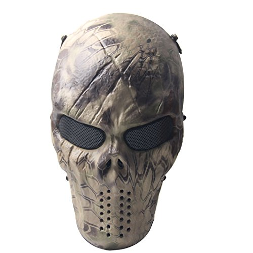 Signstek Airsoft Protective Mask Gear Full Face Skull Skeleton Mask /Outdoor War CS Game Mask / Halloween Mask- For Outdoor Live-action CS, Parties, Halloween Movie Props---Wasteland (Cs Movie compare prices)