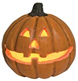 Pumpkin - Mini Carved Lighted Jack O'Lantern - Halloween Seasonal Decor