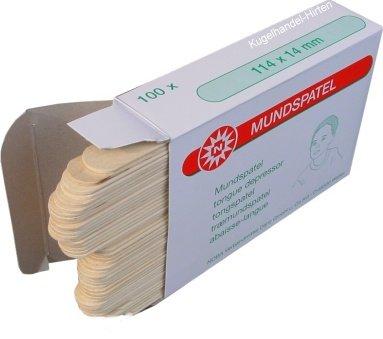 100 Holzspatel Kinderspatel Spatel Bastelspatel 114 mm x 14 mm von Noba Verbandmittel