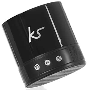 KitSound PocketBoom XB (Extra Bass) Universal Rechargeable Bluetooth Portable Speaker Compatible with Smartphones, Tablets and MP3 Devices - Black